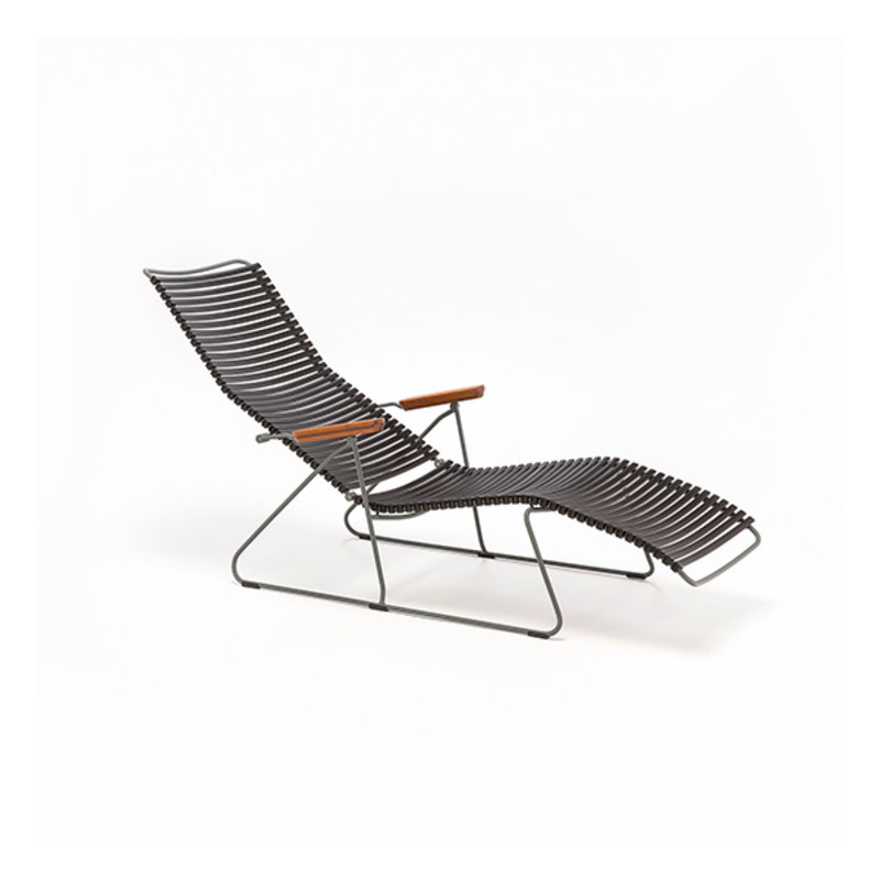 Houe-collectie CLICK Sunlounger with Paprika lamellas