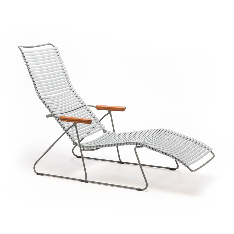 Houe-collectie CLICK Sunlounger with Grey lamellas