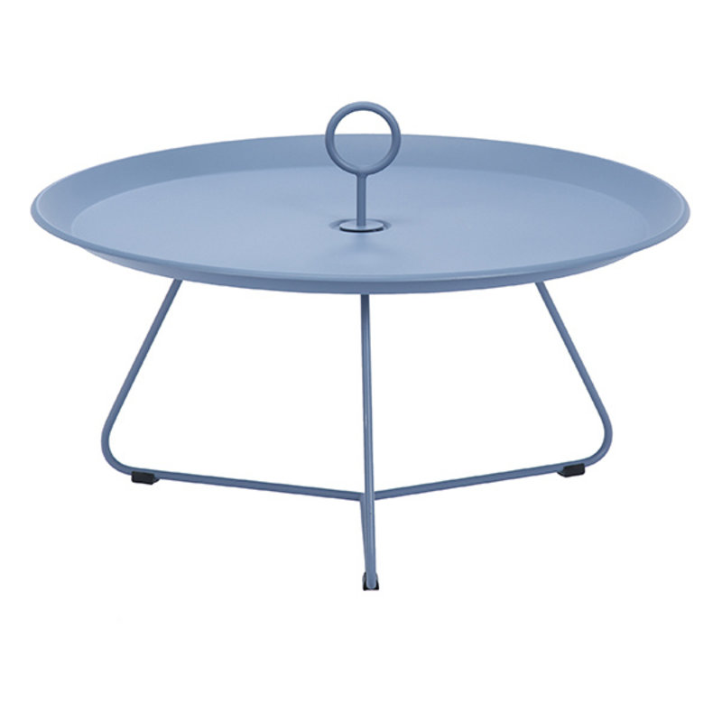 Houe-collectie EYELET Tray Table Ø70 cm Pigeon blue