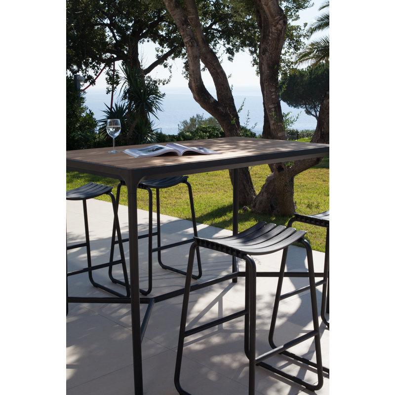 Houe-collectie FOUR bartafel 160x90 cm zwart met bamboe blad