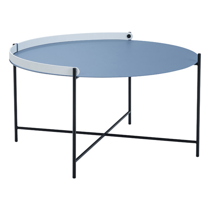 Houe-collectie EDGE Tray table Ø76 Pigeon blue