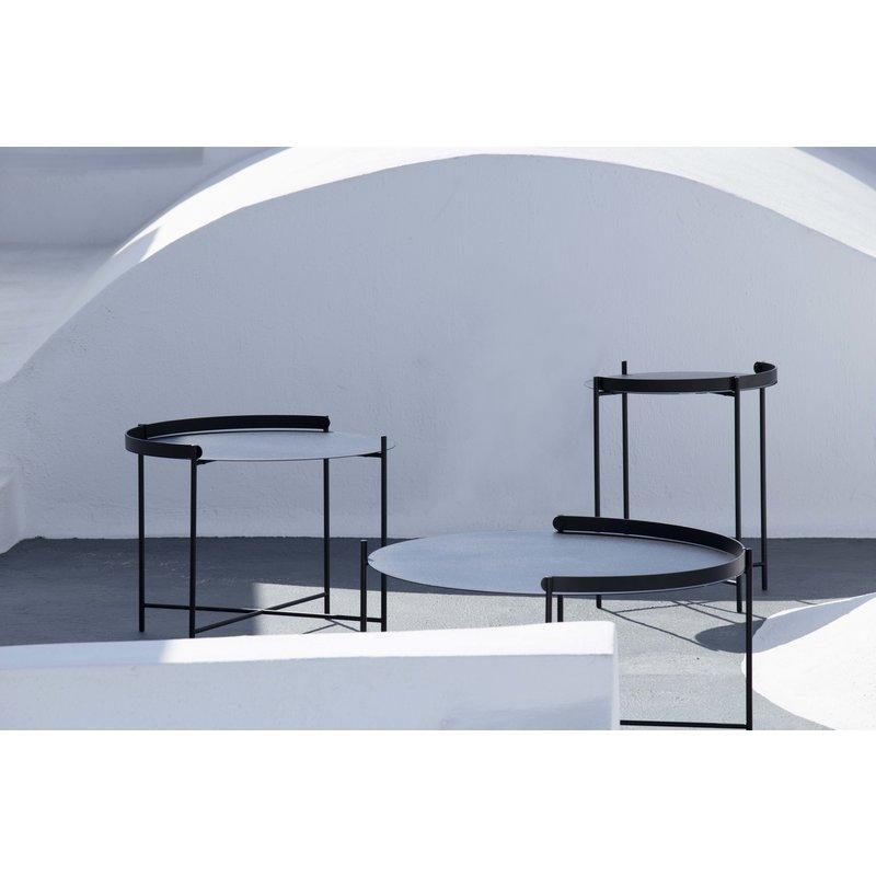 Houe-collectie EDGE bijzettafel Ø76 zwart