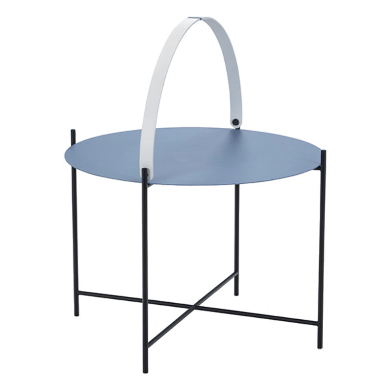 Houe-collectie EDGE Tray table Ø62 Pigeon blue
