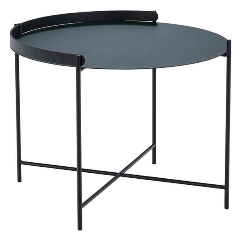 Houe-collectie EDGE Tray table Ø62 Pine Green