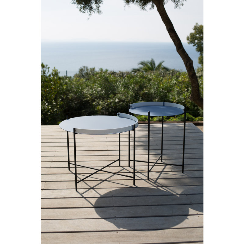 Houe-collectie EDGE Tray table Ø46 Pigeon blue