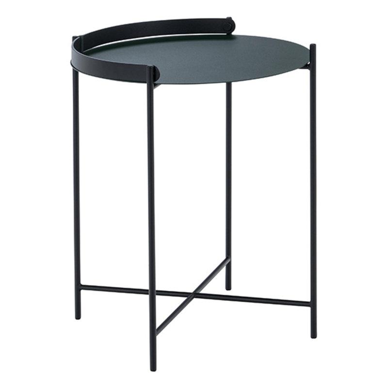 Houe-collectie EDGE Tray table Ø46 Pine Green