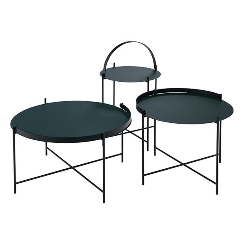 Houe-collectie EDGE Tray table Ø76 Pine Green
