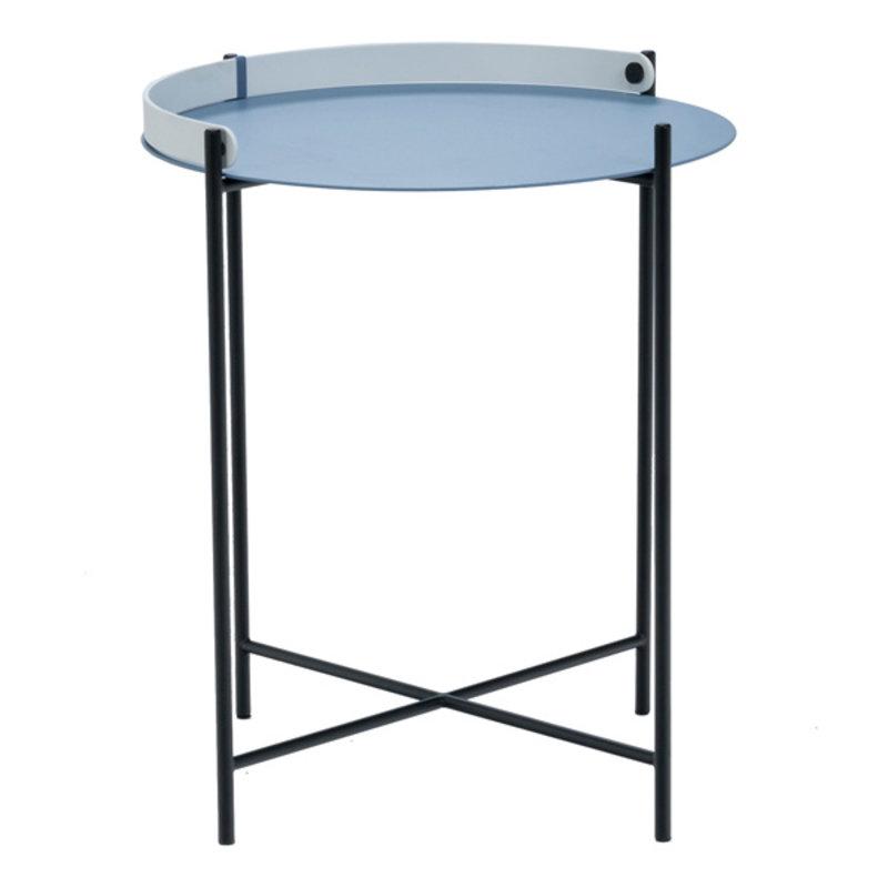 Houe-collectie EDGE bijzettafel Ø46 blauw