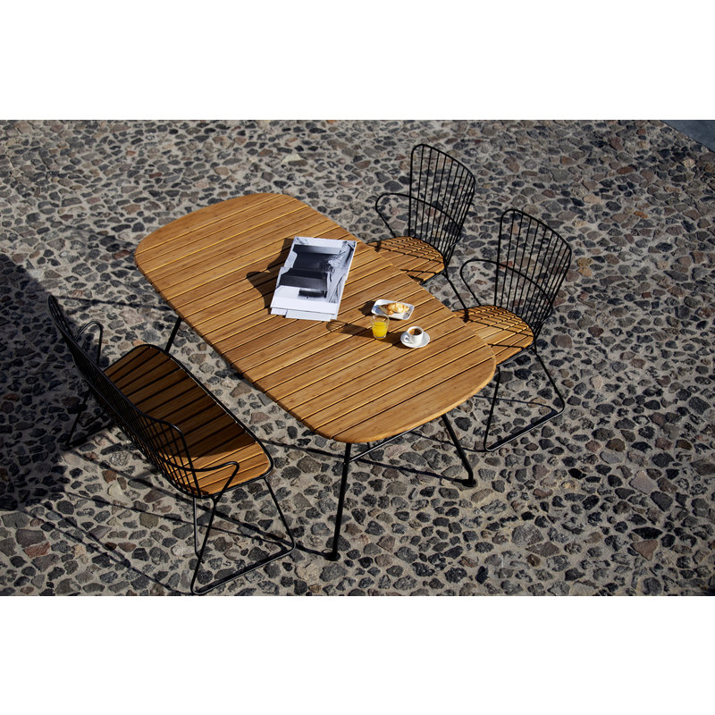 Houe-collectie BEAM outdoor dining table bamboo