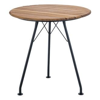 Houe CIRCUM tafel Ø74 zwart met bamboe blad