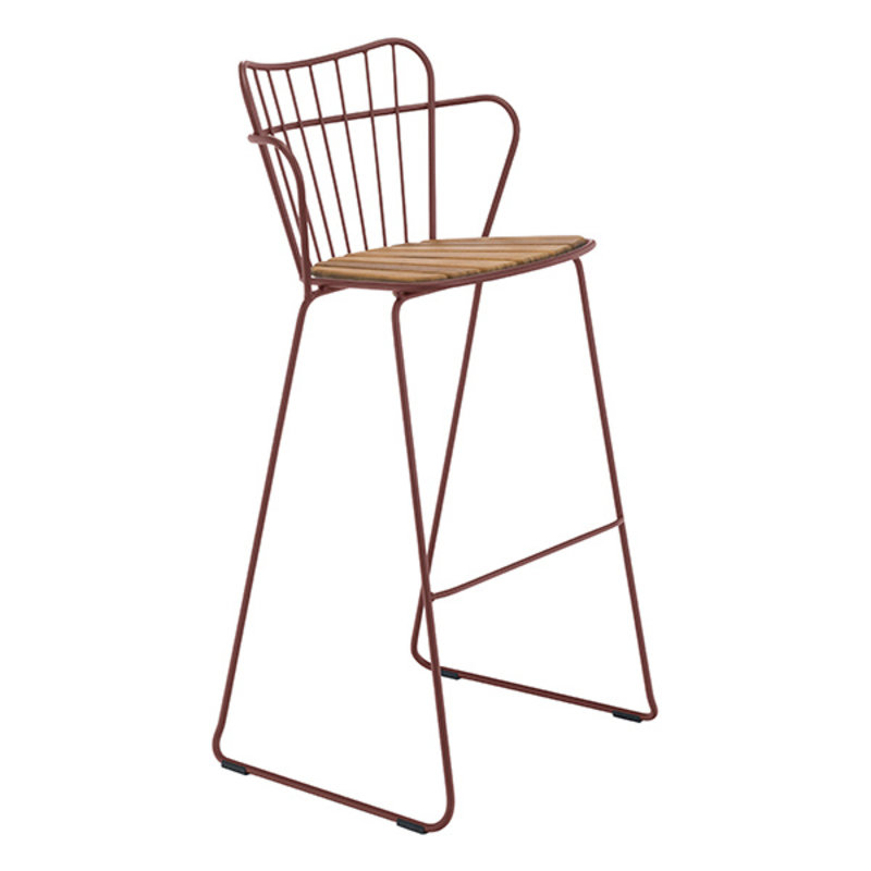 Houe-collectie PAON Bar Chair, Paprika