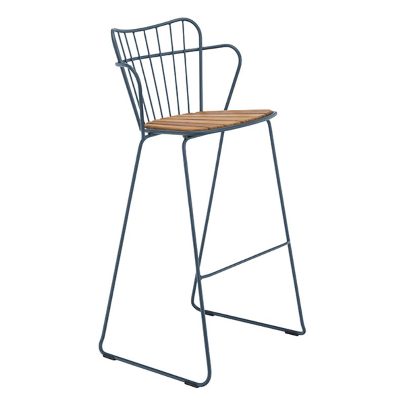 Houe-collectie PAON Bar Chair, Midnight Blue
