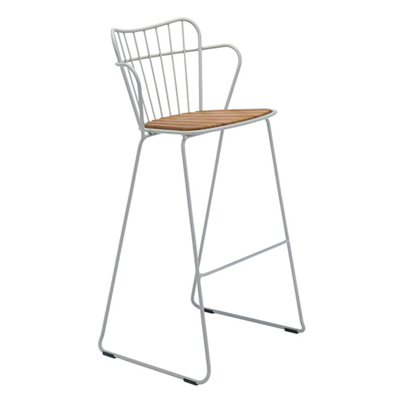 Houe-collectie PAON Bar Chair, White Taupe