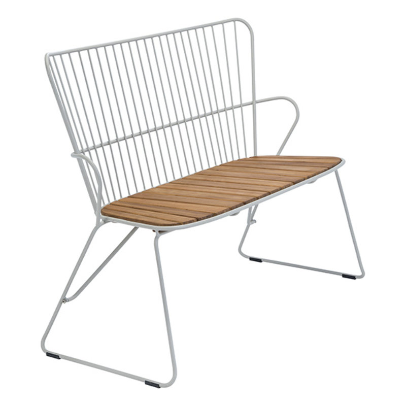 Houe-collectie PAON Bench, White Taupe