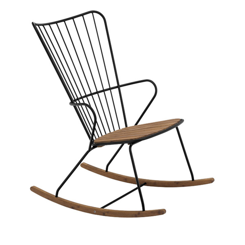Houe-collectie PAON Rocking Chair, Black
