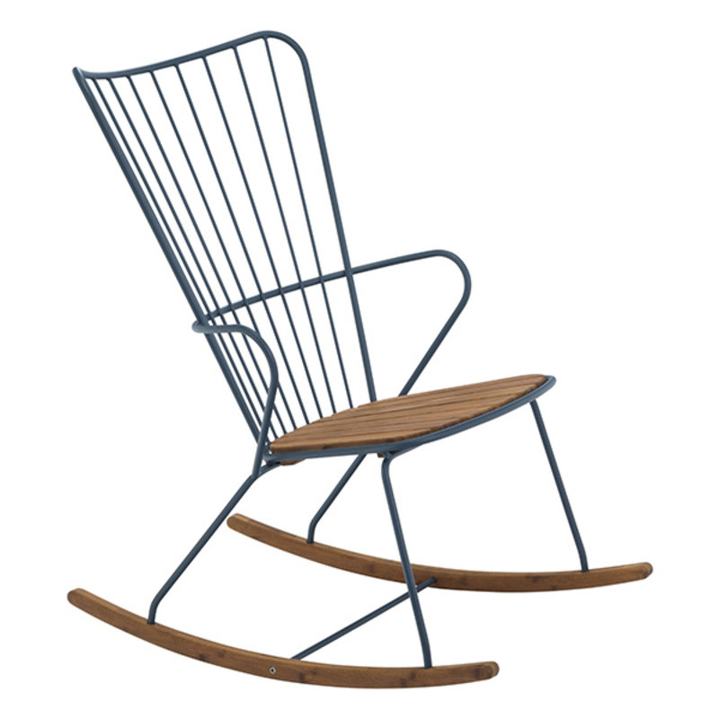 Houe-collectie PAON Rocking Chair, Midnight Blue