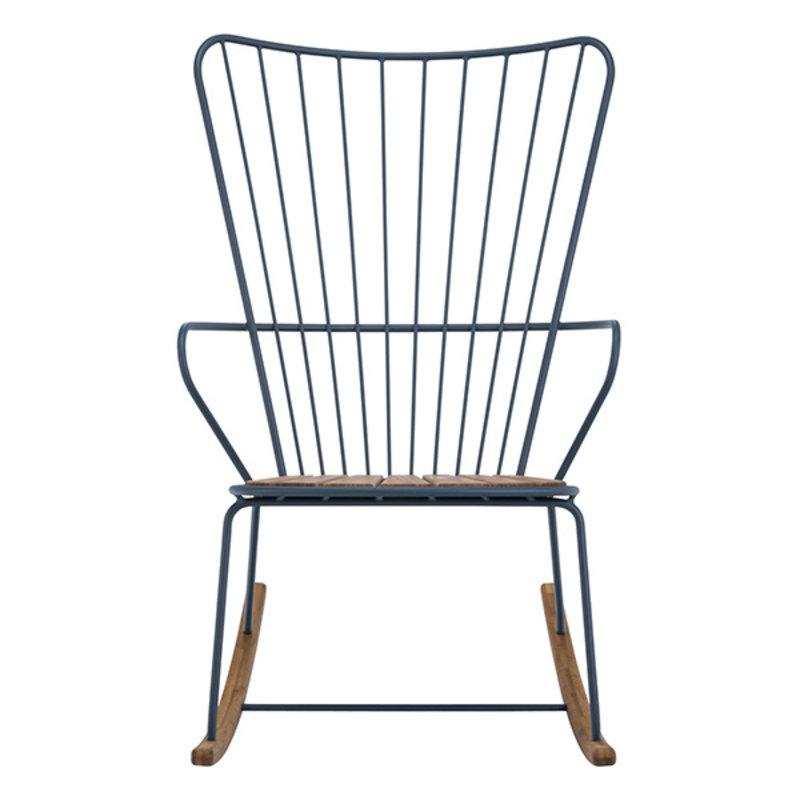 Houe-collectie PAON schommelstoel donkerblauw