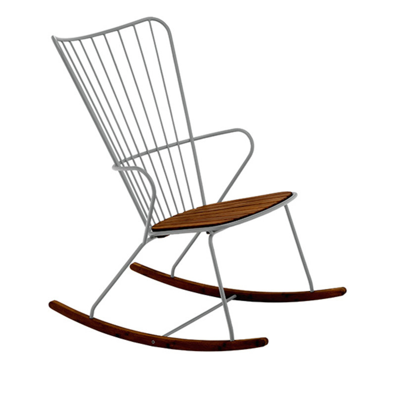 Houe-collectie PAON Rocking Chair, White Taupe