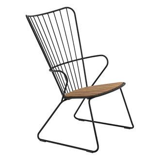 Houe PAON lounge stoel zwart