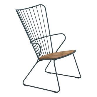 Houe PAON lounge stoel donkergroen