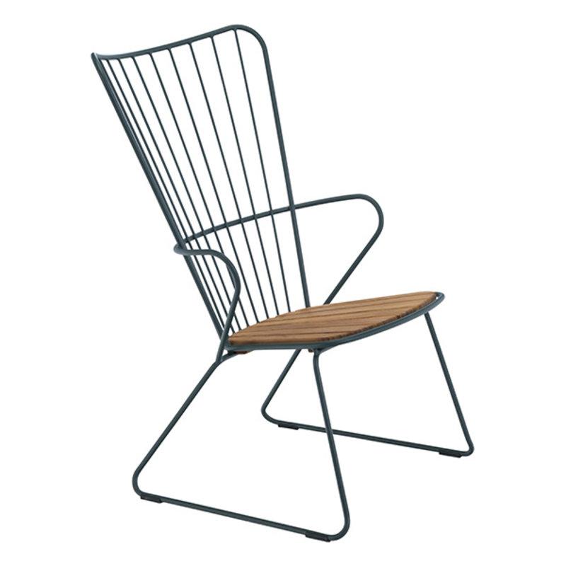 Houe-collectie PAON lounge stoel donkergroen