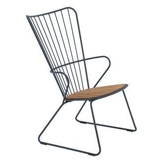 Houe PAON lounge stoel donkerblauw
