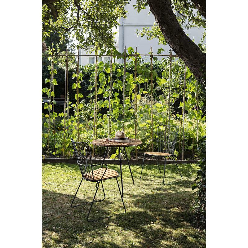 Houe-collectie PAON tuinstoel zwart