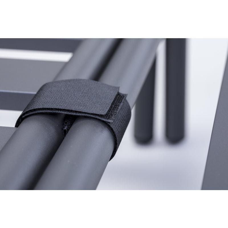 Houe-collectie LEVEL lounge pouf dark grey