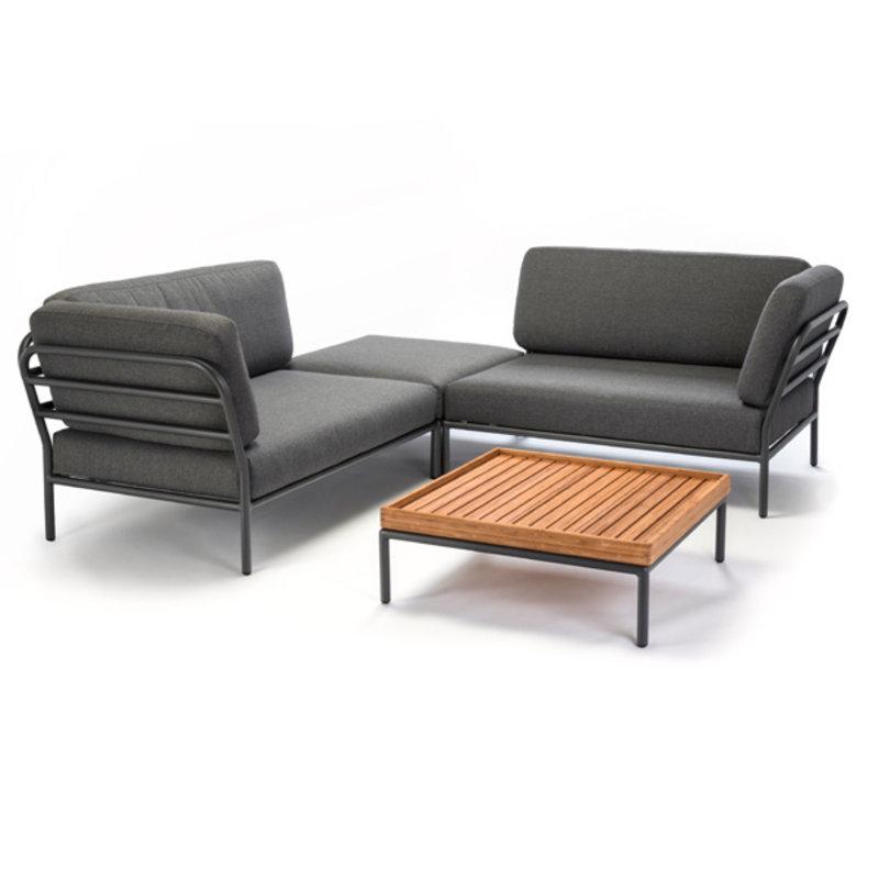 Houe-collectie LEVEL lounge poef grijs