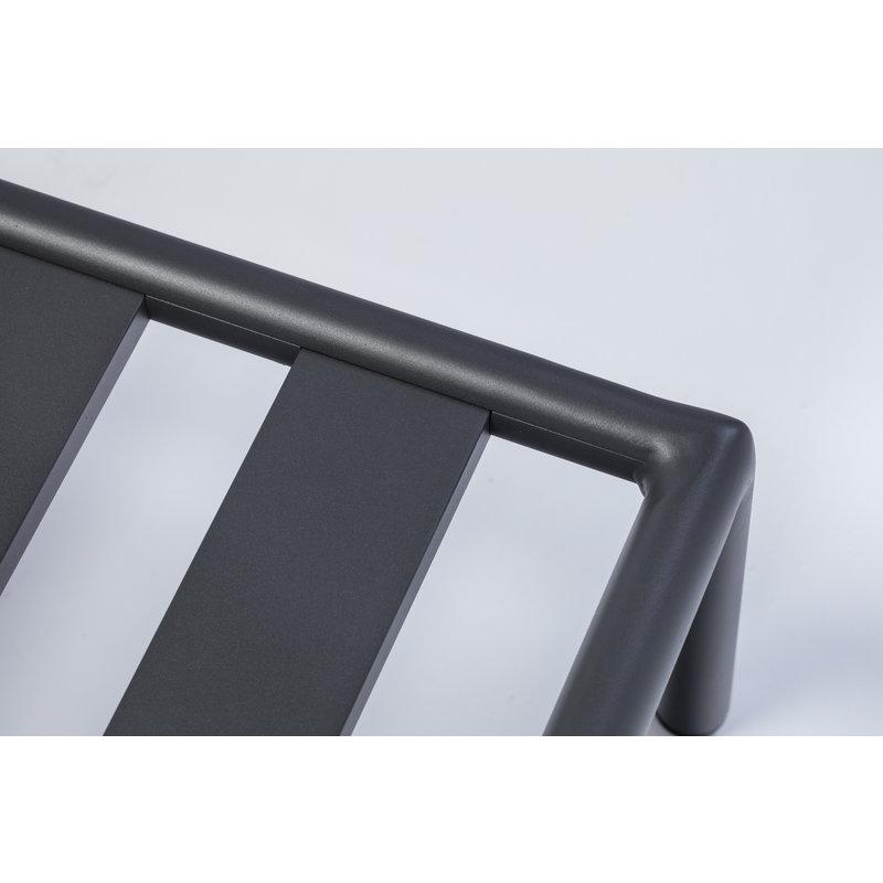 Houe-collectie LEVEL loungebank rechts grijs