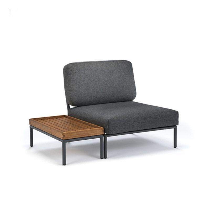 Houe-collectie LEVEL lounge chair dark grey