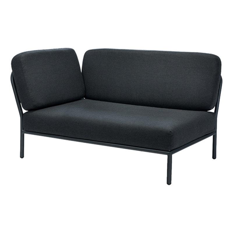 Houe-collectie LEVEL loungebank links donkergrijs