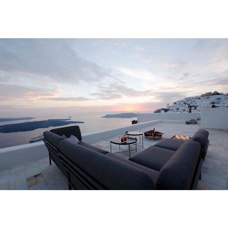 Houe-collectie LEVEL lounge sofa left corner Sooty grey