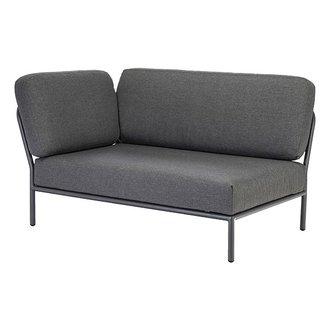 Houe LEVEL lounge sofa left corner dark grey