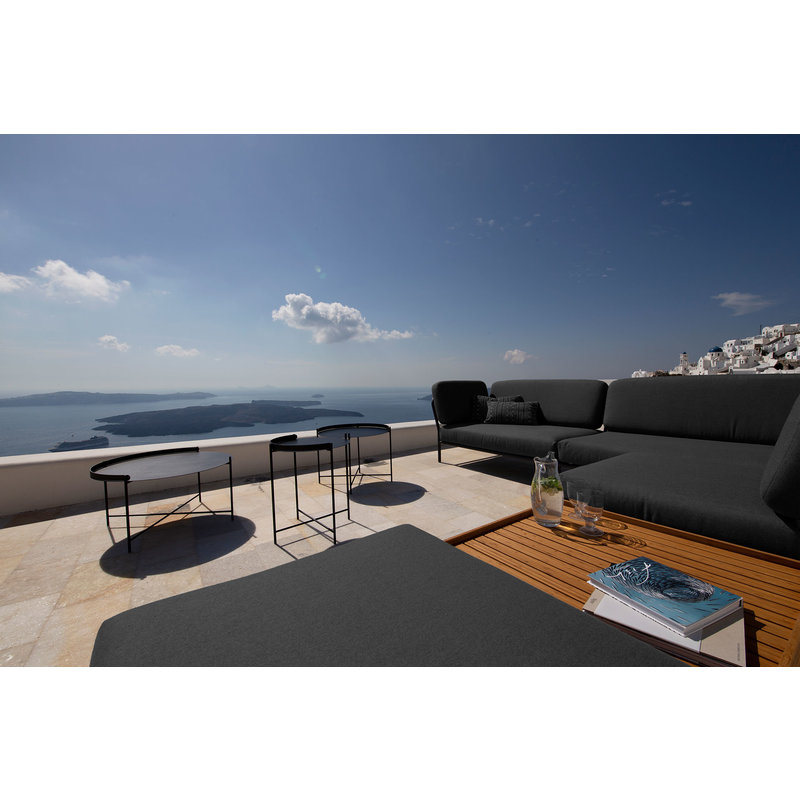Houe-collectie LEVEL lounge sofa right corner Sooty grey