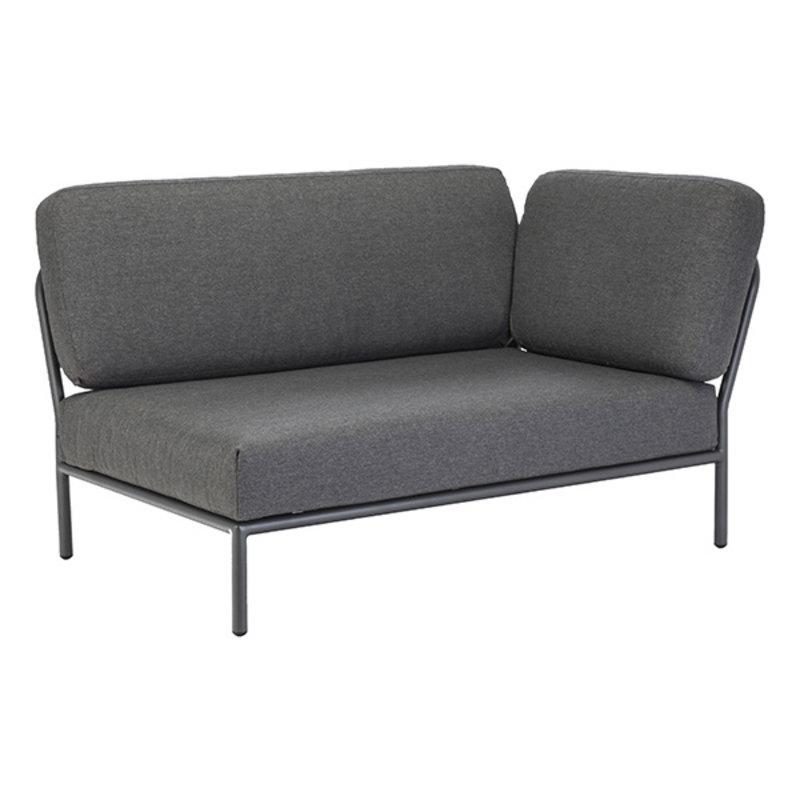 Houe-collectie LEVEL lounge sofa right corner dark grey
