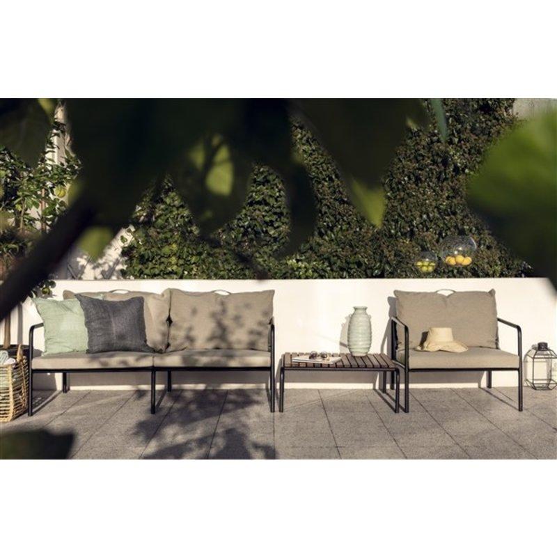 Houe-collectie AVON salontafel zwart met houten tafelblad
