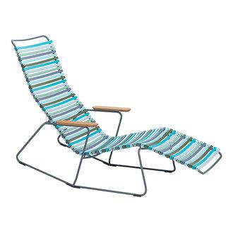 Houe CLICK sunrocker schommelstoel met bamboe armleuning multi color 2