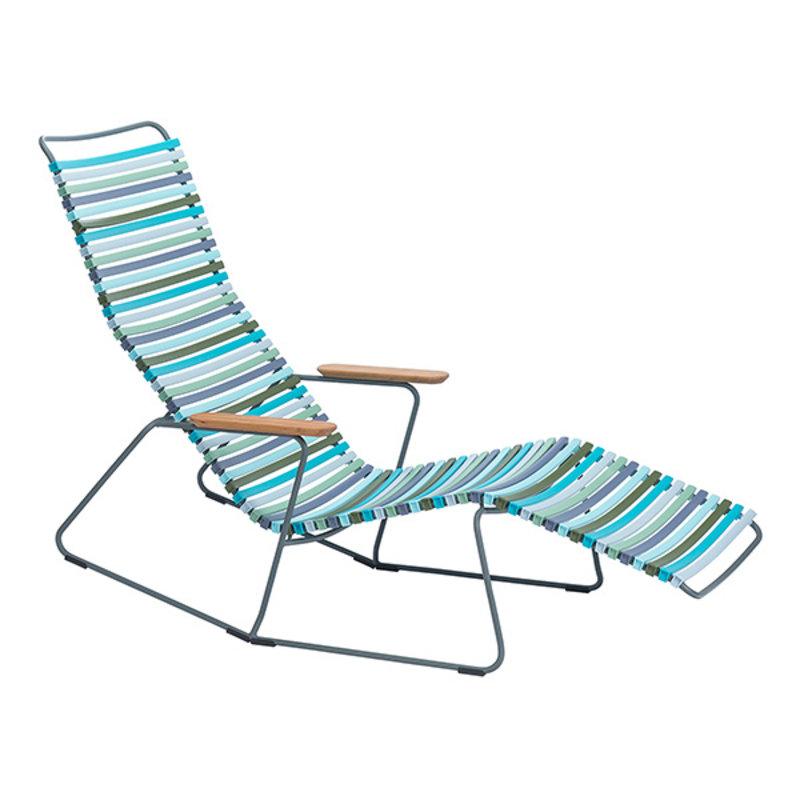 Houe-collectie CLICK sunrocker schommelstoel met bamboe armleuning multi color 2