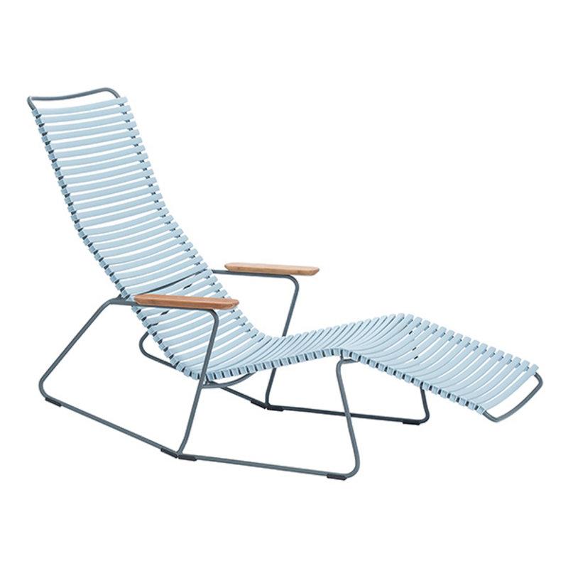 Houe-collectie CLICK sunrocker schommelstoel met bamboe armleuning lichtblauw
