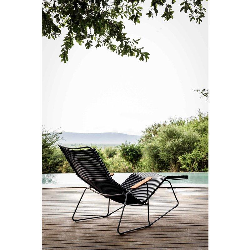Houe-collectie CLICK sunrocker schommelstoel met bamboe armleuning blauw