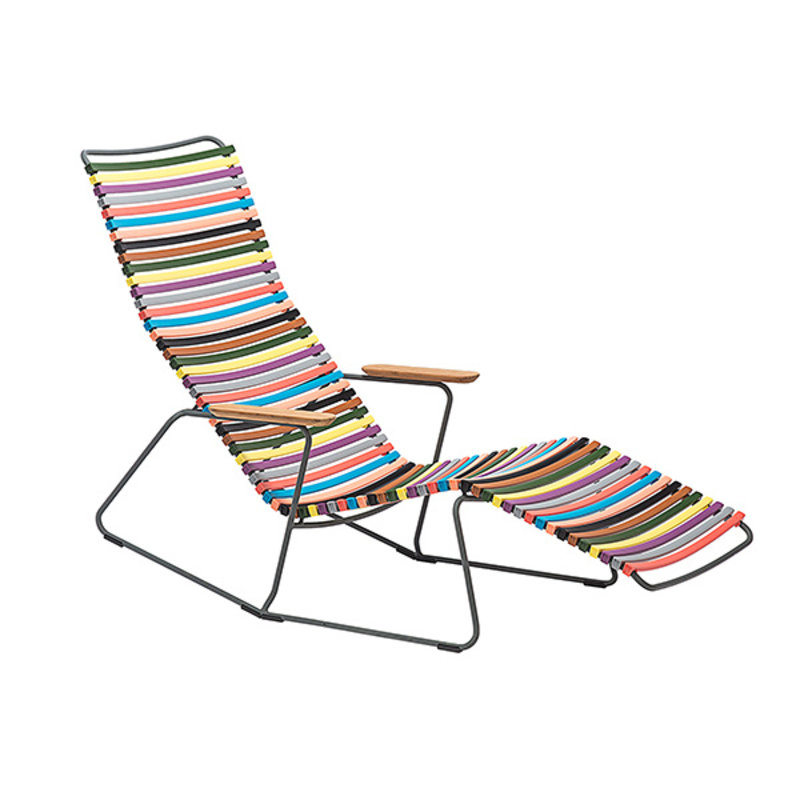 Houe-collectie CLICK Sunrocker with armrests in bamboo Multi color 1