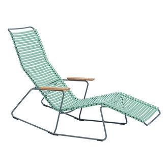 Houe CLICK sunrocker schommelstoel met bamboe armleuning Dusty green