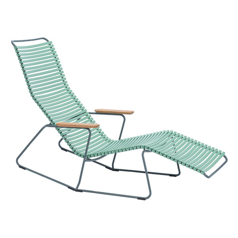 Houe-collectie CLICK Sunrocker with armrests in bamboo Dusty green