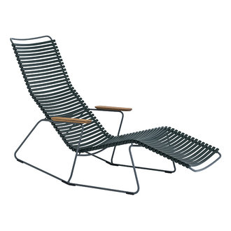 Houe CLICK sunrocker schommelstoel met bamboe armleuning donkergroen