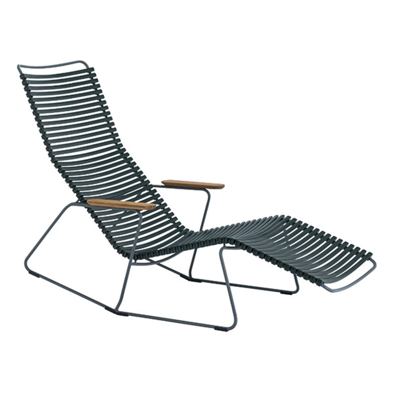 Houe-collectie CLICK Sunrocker with armrests in bamboo Pine Green