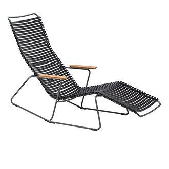 Houe CLICK sunrocker schommelstoel met bamboe armleuning zwart