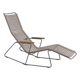Houe CLICK sunrocker schommelstoel met bamboe armleuning zand