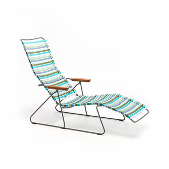 Houe CLICK sunlounger ligstoel met bamboe armleuning multi color 2