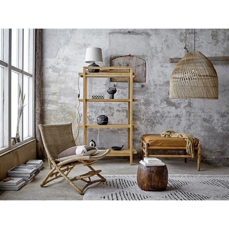 Bloomingville-collectie Aysia Stool Nature Leather